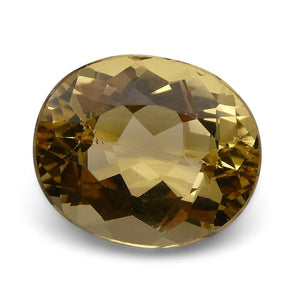 6.05 ct Oval Heliodor/Golden Beryl CGL-GRS Certified - Skyjems Wholesale Gemstones