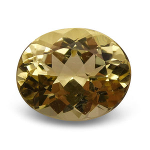 3.67 ct Oval Heliodor / Golden Beryl - Skyjems Wholesale Gemstones