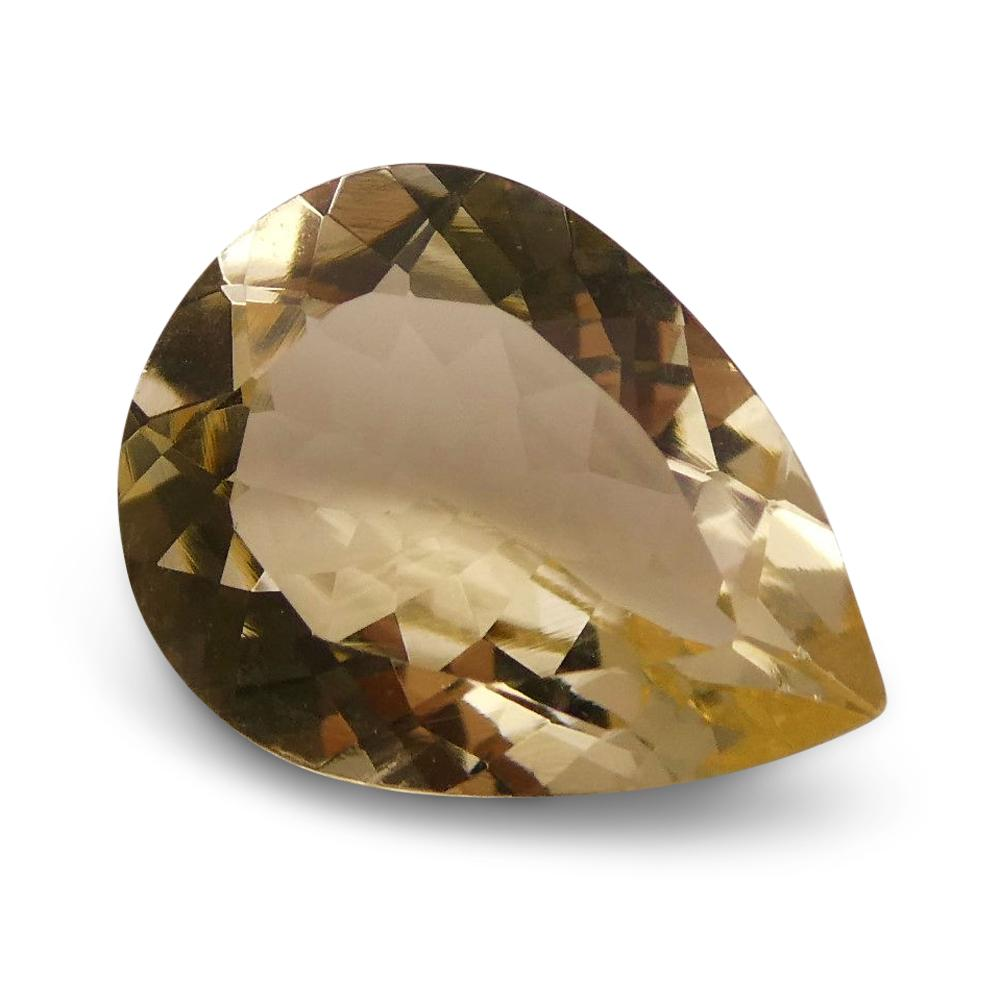 1.61 ct Pear Heliodor  / Golden Beryl