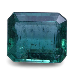 Emerald 2.62 cts 9.05x7.58x4.65mm Cut-Corner Rect. Step Cut Green  $629
