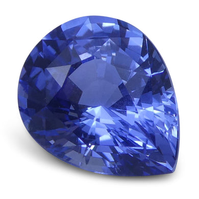 1.32 ct Pear Blue Sapphire IGI Certified Unheated