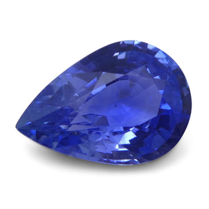 1.38 ct Pear Blue Sapphire IGI Certified Unheated