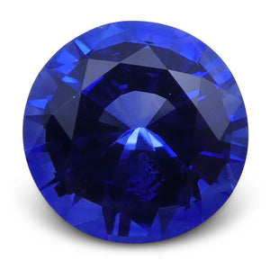 Blue Sapphire 0.93 cts 6.01x6.09x3.54mm Round Mixed Cut Blue  $698
