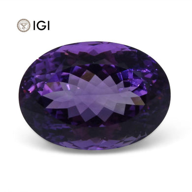 28.56 ct Amethyst Oval IGI Certified - Skyjems Wholesale Gemstones