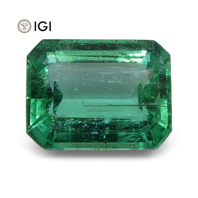 4.06 ct Emerald Cut Emerald IGI Certified Zambian with Inscription - Skyjems Wholesale Gemstones