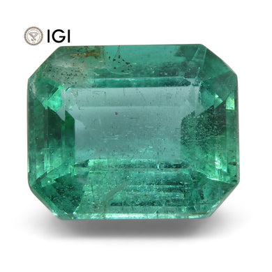 4.49 ct Emerald Cut Emerald IGI Certified Zambian with Inscription - Skyjems Wholesale Gemstones
