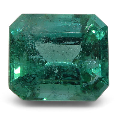 Emerald 5.63 cts 10.96x9.49x7.44mm Cut-Cornered Rect. Step Cut Green  $4700