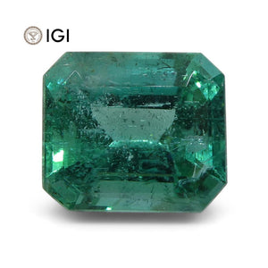 5.63 ct Emerald Cut Emerald IGI Certified Zambian with Inscription - Skyjems Wholesale Gemstones