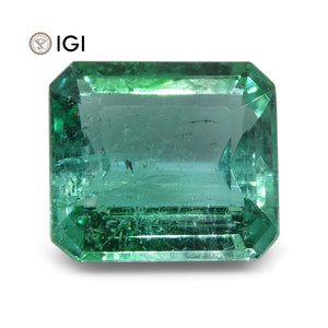 6.48 ct Emerald Cut Emerald IGI Certified Zambian with Inscription - Skyjems Wholesale Gemstones