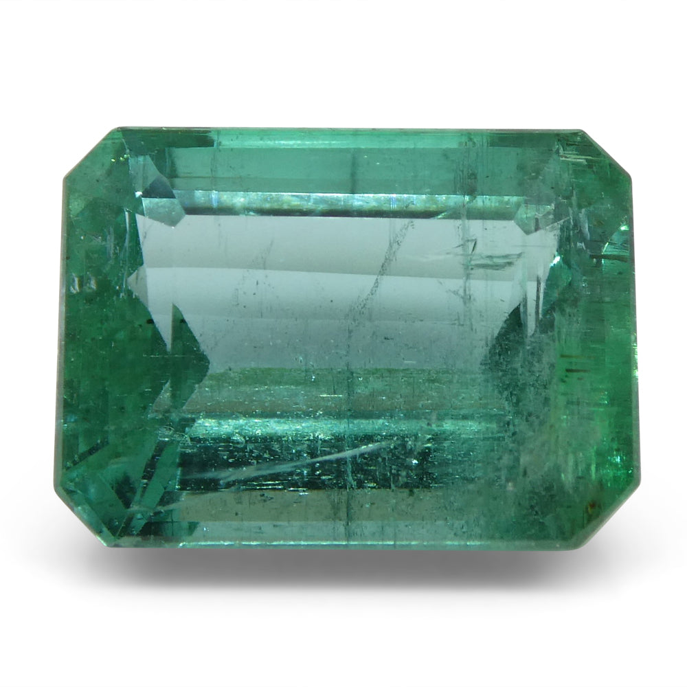 6.35 ct Emerald Cut Emerald IGI Certified Zambian with Inscription