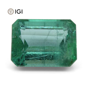 6.35 ct Emerald Cut Emerald IGI Certified Zambian with Inscription - Skyjems Wholesale Gemstones