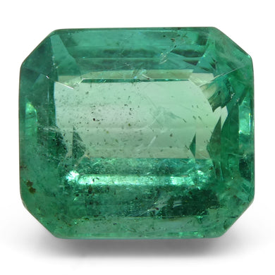 Emerald 3.72 cts 9.10x8.30x6.24mm Cut-Cornered Rect. Step Cut Green  $2500