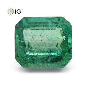3.72 ct Emerald Cut Emerald IGI Certified Zambian - Skyjems Wholesale Gemstones