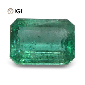5.29 ct Emerald Cut Emerald IGI Certified Zambian with Inscription - Skyjems Wholesale Gemstones