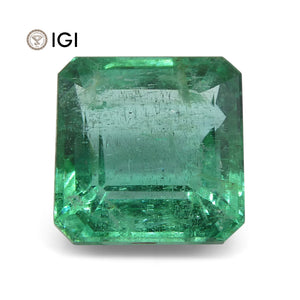 4.2 ct Square Emerald IGI Certified Zambian with Inscription - Skyjems Wholesale Gemstones