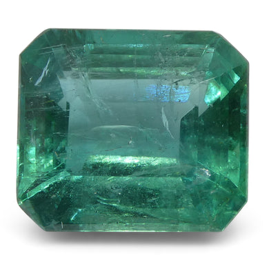 Emerald 6.04 cts 11.64x10.27x6.67mm Cut-Cornered Rect. Step Cut Green  $5070