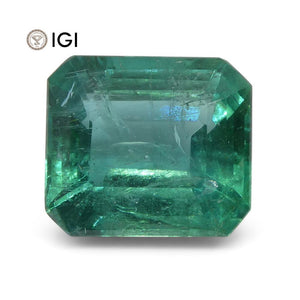 6.04 ct Emerald Cut Emerald IGI Certified Zambian with Inscription - Skyjems Wholesale Gemstones