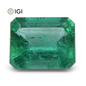 3 ct Emerald Cut Emerald IGI Certified Zambian with Inscription - Skyjems Wholesale Gemstones