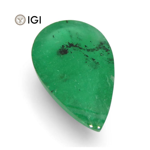 1.76 ct Pear Cabochon Emerald IGI Certified Brazil