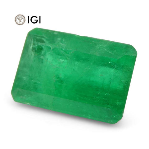 1.01 ct Emerald Cut Emerald IGI Certified Colombian with Inscription