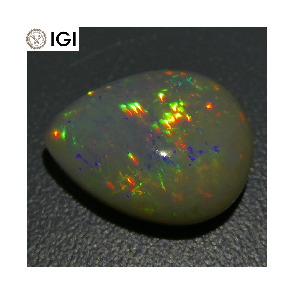 6.66 ct Opal Pear Cabochon IGI Certified