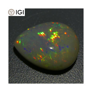 6.66 ct Opal Pear Cabochon IGI Certified - Skyjems Wholesale Gemstones