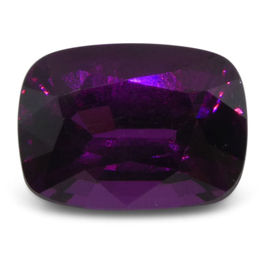Rhodolite Garnet 3.78 cts 9.88x7.26x5.58mm Cushion Reddish Purple  $300