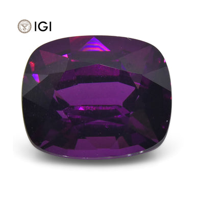2.85 ct Rhodolite Garnet Cushion IGI Certified - Skyjems Wholesale Gemstones
