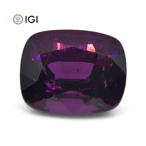 3 ct Rhodolite Garnet Cushion IGI Certified - Skyjems Wholesale Gemstones
