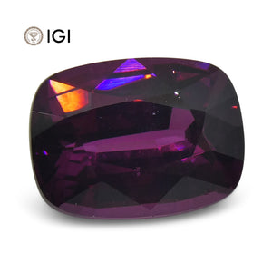 3.18 ct Rhodolite Garnet Cushion IGI Certified - Skyjems Wholesale Gemstones