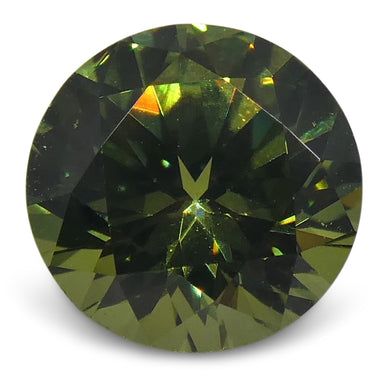 Demantoid Garnet 0.92 cts 5.98-6.02x3.75mm Round Green  $600
