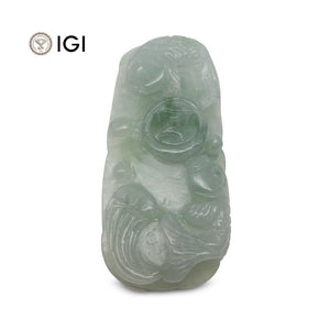61.21 ct Jadeite Drilled Carving IGI Certified - Skyjems Wholesale Gemstones
