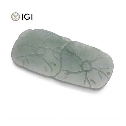 61.21 ct Jadeite Drilled Carving IGI Certified