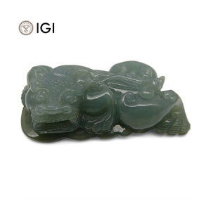 87.27 ct Jadeite Drilled Carving IGI Certified - Skyjems Wholesale Gemstones