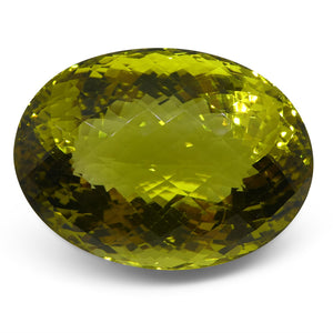 220.84 ct Lemon Citrine Oval IGI Certified