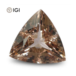 20.89 ct Morganite Trillion/Triangular IGI Certified - Skyjems Wholesale Gemstones