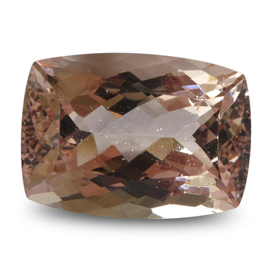 Morganite 12.74 cts 16.92x12.13x9.18mm Cushion Orangy Pink  $1910