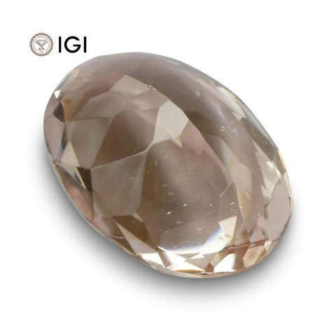 14.41 ct Morganite Oval IGI Certified