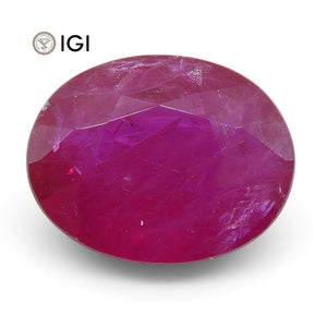 2.17 ct Oval Ruby IGI Certified