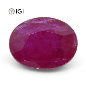 2.51 ct Oval Ruby IGI Certified