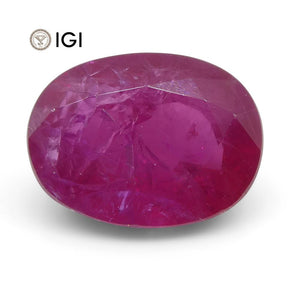 2.38 ct Oval Ruby IGI Certified