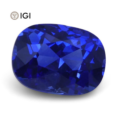 1.32 ct Cushion Blue Sapphire IGI Certified - Skyjems Wholesale Gemstones