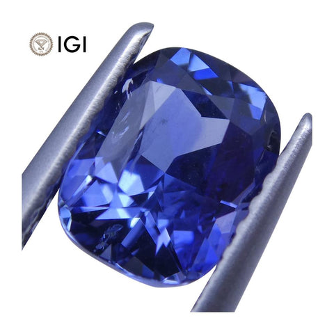1.63 ct Cushion Blue Sapphire IGI Certified