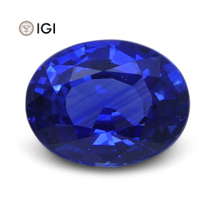 1.10 ct Oval Blue Sapphire IGI Certified - Skyjems Wholesale Gemstones