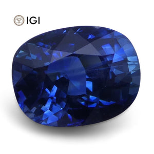 1.41 ct Cushion Cut Blue Sapphire IGI Certified - Skyjems Wholesale Gemstones