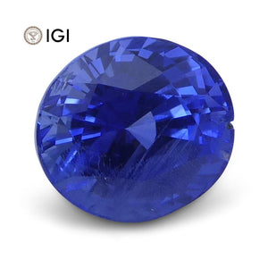 1.20 ct Oval Blue Sapphire IGI Certified Unheated - Skyjems Wholesale Gemstones