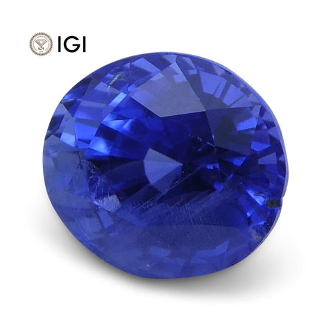 1.20 ct Oval Blue Sapphire IGI Certified Unheated