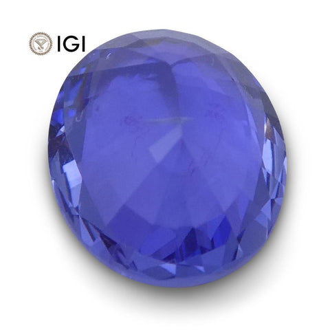 1.31 ct Oval Blue Sapphire IGI Certified Unheated