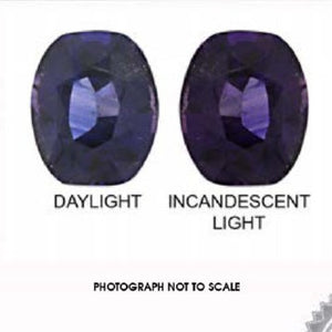 2.08 ct Oval Color Change Sapphire IGI Certified