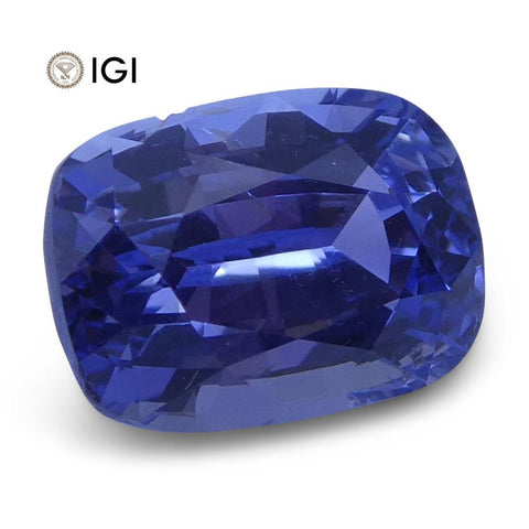 1.52 ct Cushion Blue Sapphire IGI Certified Unheated